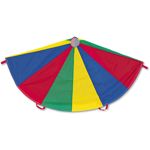 Champion Sports Nylon Multicolor Parachute, 12' diameter, 12 Handles