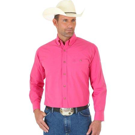 wrangler men's george strait long sleeve shirt tall - mgs271k-tll
