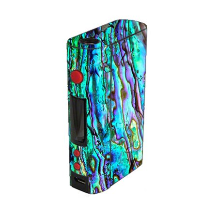 Skin Decal For Kangertech Kbox 200W Kanger Vape Mod / Abalone Ripples Green Blue Purple