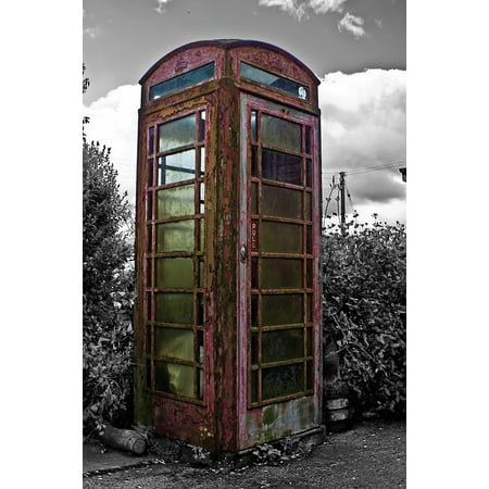 Canvas Print Phone Architecture England Old Booth Traditions Stretched Canvas 10 x - Halloween Tradition In England