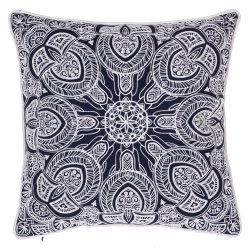 Image of 14 Karat Home Inc. Embroidered Cotton Throw Pillow