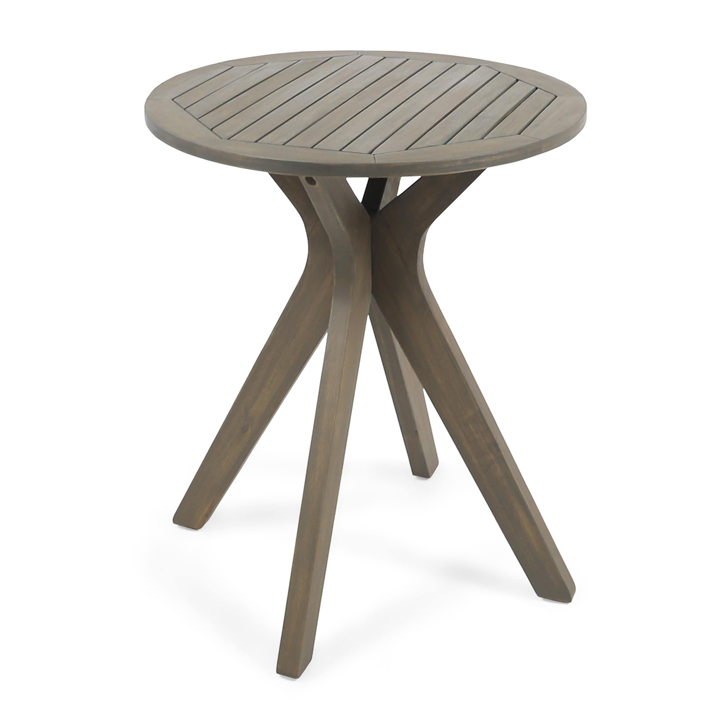 Christopher Knight Home Stamford Outdoor Bistro Table with X Legs by