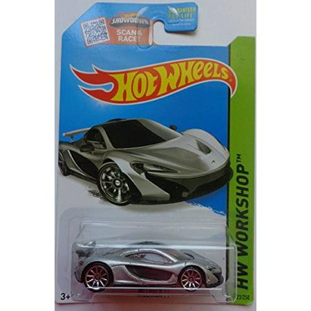 Series Diecast Metal (Silver McLaren P1 Hot Wheels HW Workshop Series 1:64 Scale Collectible Die Cast Metal Toy Car Model )