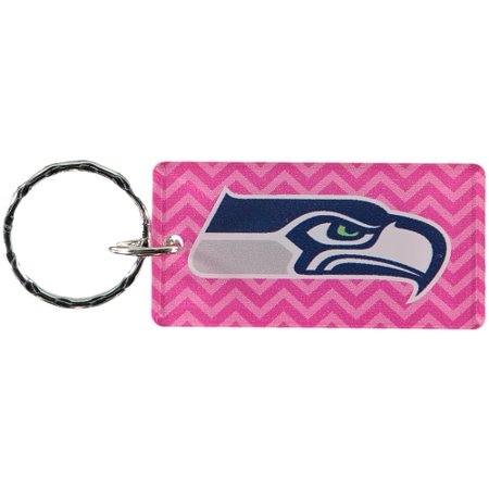 Seattle Seahawks Chevron Printed Acrylic Team Color Logo Keychain - Pink - No Size](Pink Seahawks)