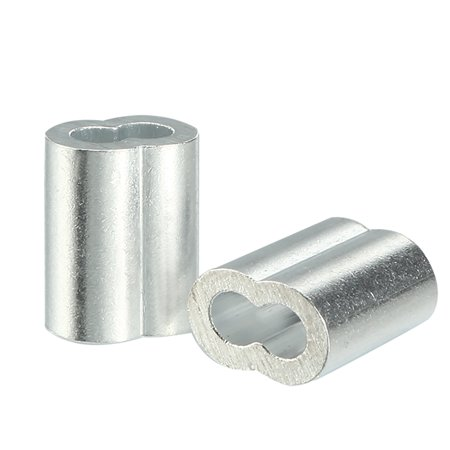 1.5mm Cable Wire Rope Aluminum Sleeves Clip Crimping Loop
