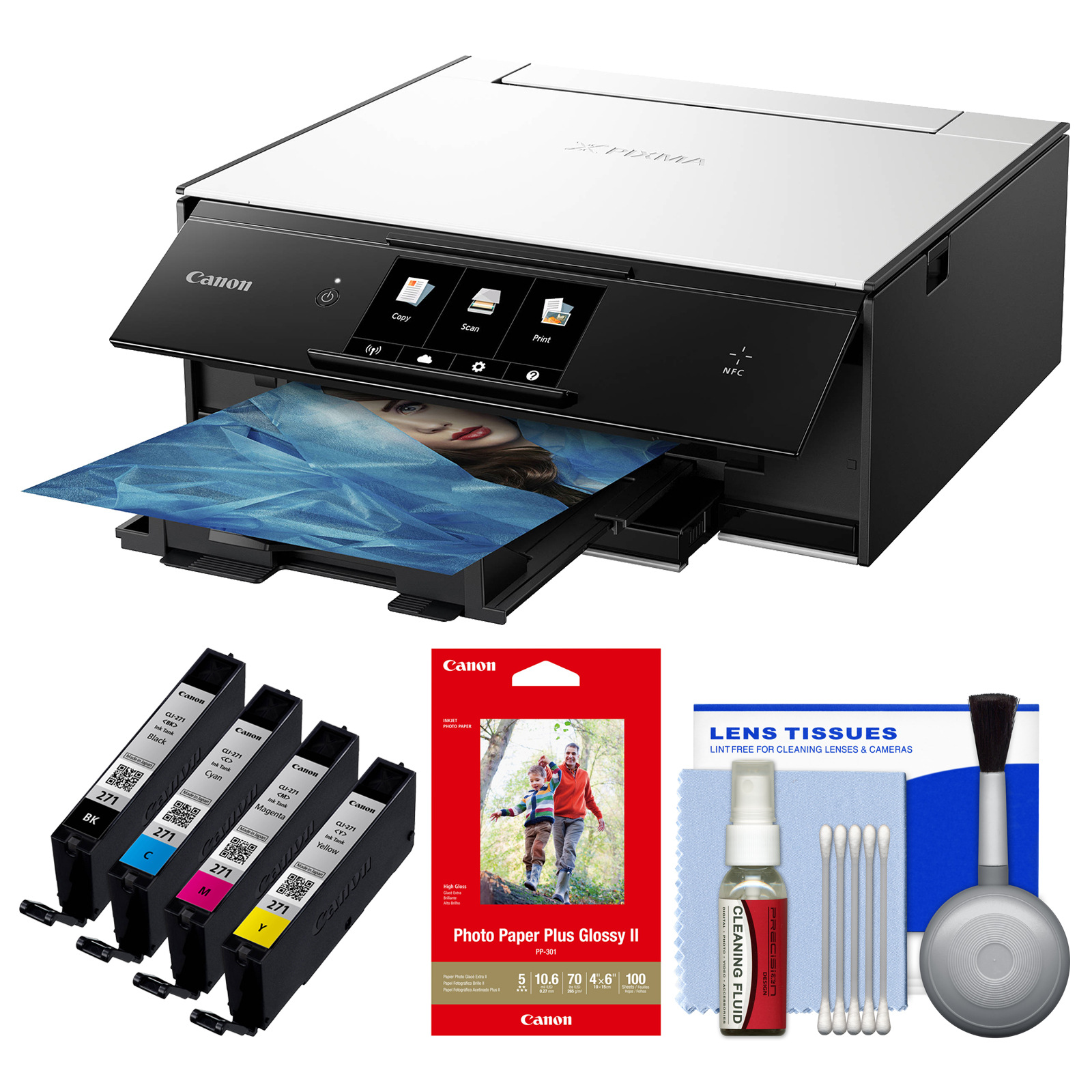 Canon PIXMA TS9020 Wireless Color Inkjet All-In-One Print...