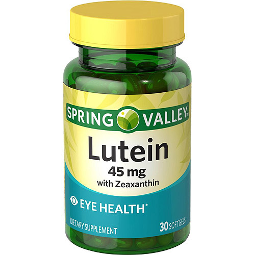 Spring Valley Lutein with Zeaxanthin Dietary Supplement Softgels, 45 mg, 30 count