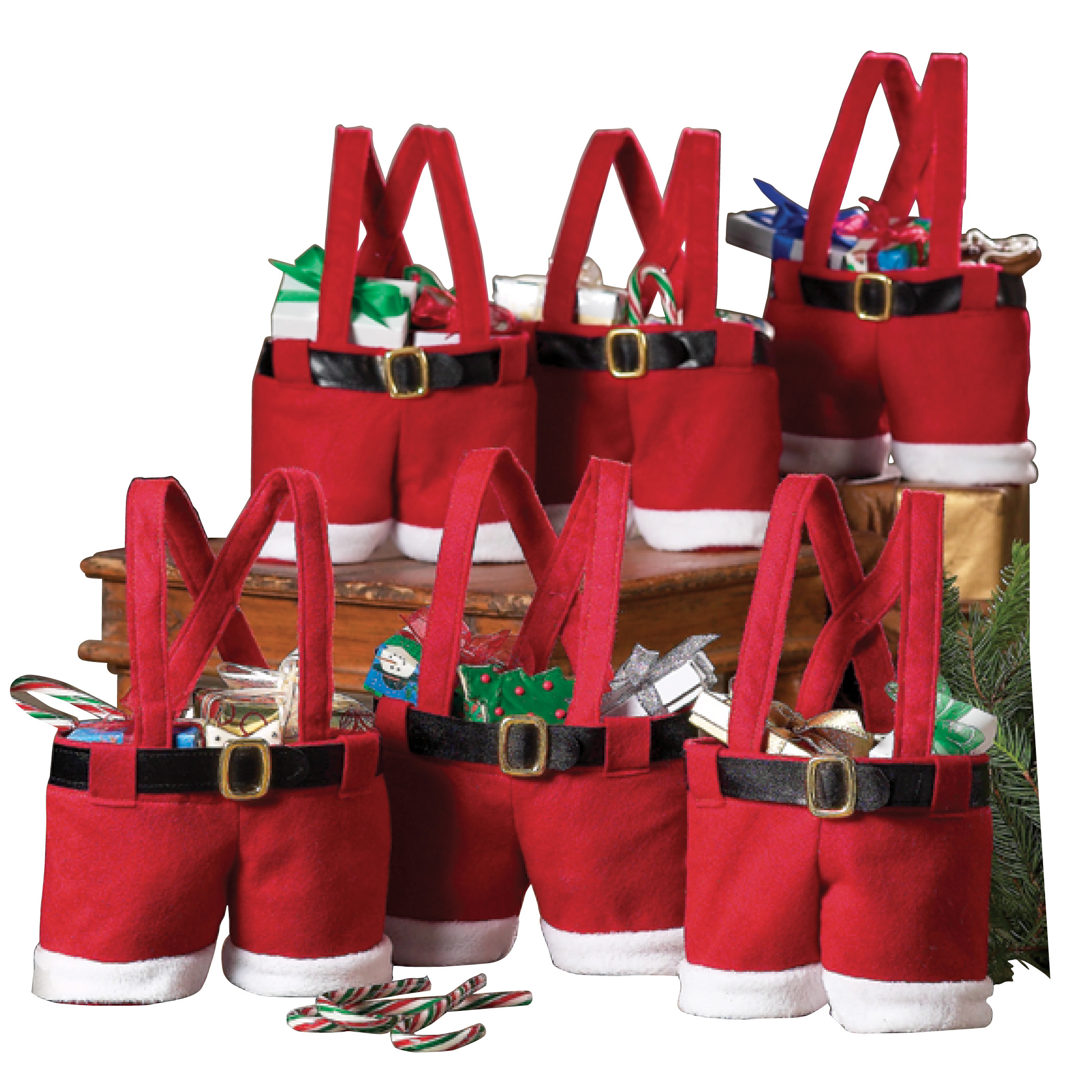 Multi-color Xmas Candy Gift Bag Protable Prevalent Handbag Handmade Candy Bags