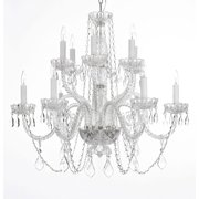 Gallery T40-595 12 Light 2 Tier Swarovski Crystal Chandelier - Clear