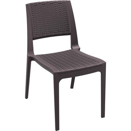 Siesta Exclusive Verona Wicker-style Resin Stacking Patio Chair (Set of 4)  Brown - Siesta Exclusive Verona Wicker-style Resin Stacking Patio Chair (Set