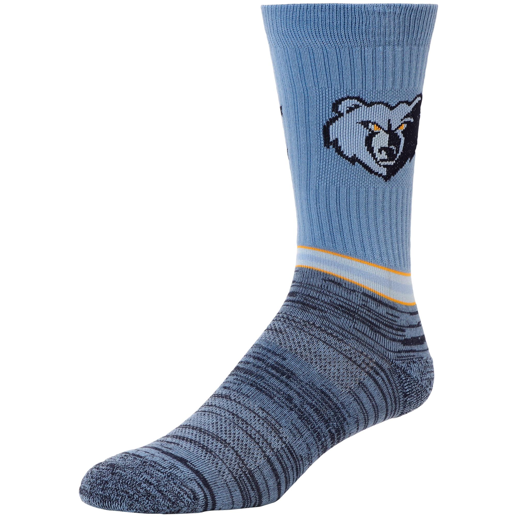 Memphis Grizzlies Block Crew Socks - L