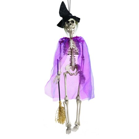 Magic Witch Halloween Decoration - Hanging Skelton Decoration (24 Inch) - Hanging Witch