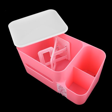 Bathroom Kitchen Plastic Tissue Paper Napkin Container Storage Box Holder Pink - image 3 of 6