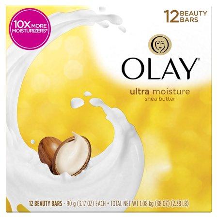 Olay Moisture Outlast Ultra Moisture Beauty Bar with Shea Butter 12 Bar, 3.17
