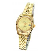 Charles-Hubert- Paris Womens Gold-Plated Quartz Watch #