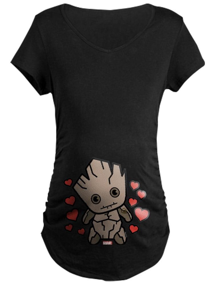 CafePress - Groot Hearts Maternity Dark T Shirt - Maternity Dark T-Shirt