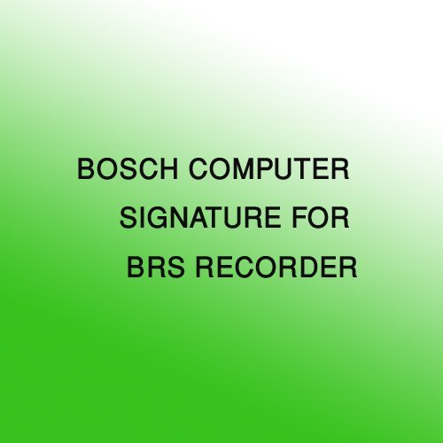 BOSCH SECURITY VIDEO BRS-DNGL-A USB Dongle for BRS Recorder