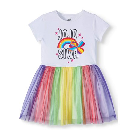 Jojo Siwa Foil Mesh Tulle Dress (Little Girls & Big Girls) Foil Mesh Dress