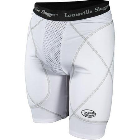 Louisville Slugger Boys' Slugger Gold Shield Sliding Shorts, White