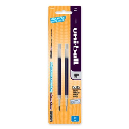 Uni-ball Signo 207 Gel Pen Refill - 0.70 Mm - Medium Point - Blue - 2 / Pack (71207PP) ()