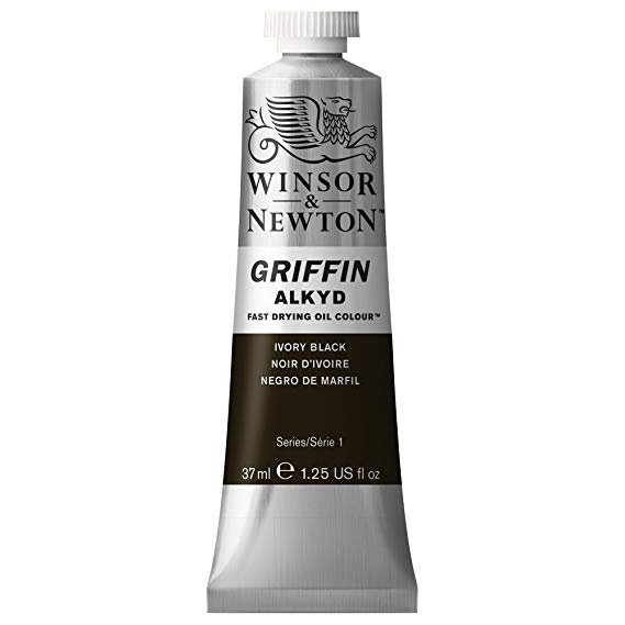 Winsor & Newton - Griffin Alkyd Color - 37ml Tube - Ivory Black