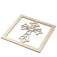 Genie Crafts 2-Piece Unfinished Wooden Cross Cutout, Wall Art Decor for Painting, DIY Wood Crafts, and Signs, 11.6 x 0.2 Inches