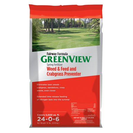 GreenView Fairway Formula Spring Fertilizer Weed & Feed and Crabgrass Preventer, 18 lb bag covers 5,000 sq
