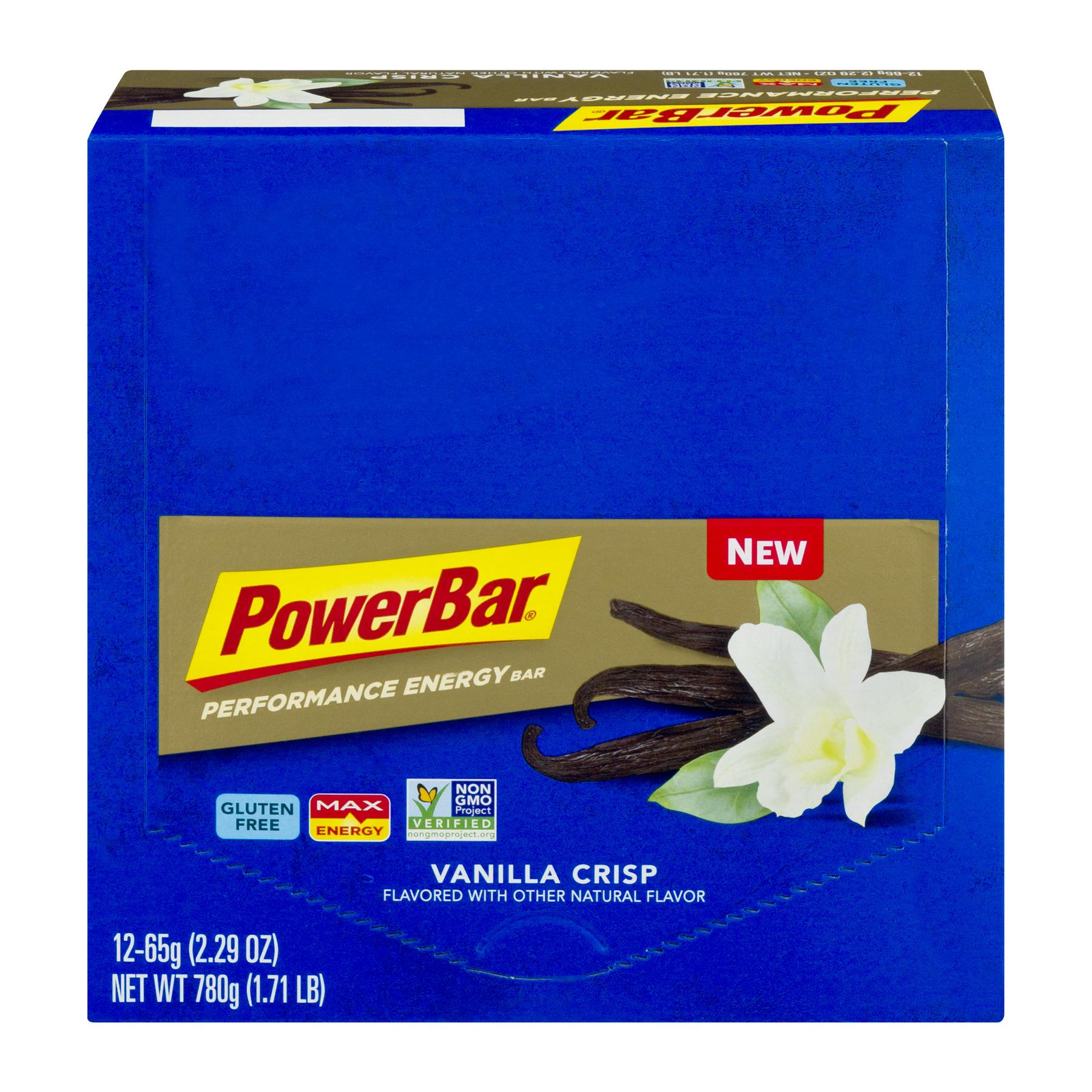 PowerBar Protein Bar, Vanilla Crisp, 8g Protein, 12 Ct