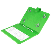 Felji Green Stand Leather Case Cover for 10 Inch Android Tablet Universal with USB Keyboard