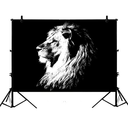 PHFZK 7x5ft Animal Lion Photography Backdrops Polyester Photo Background Studio Props - Detroit Lions Background