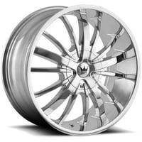 """Mazzi 364 Essence 22x9.5 6x135/6x5.5"""" +30mm Chrome Wheel Rim 22"""" Inch"""