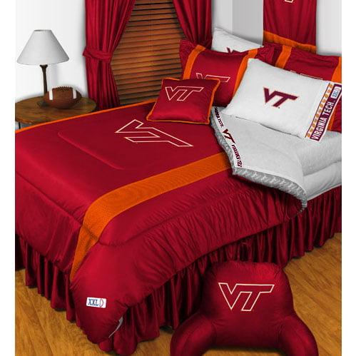 NCAA Virginia Tech Hokies Comforter Pillowcase College Bed