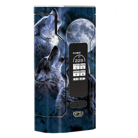 Skin Decal Vinyl Wrap For Wismec Predator 228 Vape Mod Stickers Skins Cover/ Howling Wolves At Moon - Halloween Howling Wolves