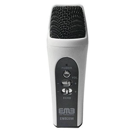 EMB EMB20W Wired Handheld Multi-function Condenser Microphone For Iphone/iPad/Android WHITE
