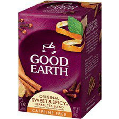 Organic Sweet & Spicy Herbal Caffeine Free Good Earth Teas 18 Tea - Good Earth Sweet Spicy Herbal Tea