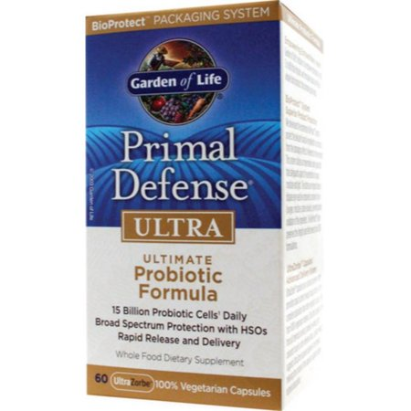 Garden of Life Primal Defense Ultra Probiotic Formula-15 billion cells - 60 Vegetarian Capsules