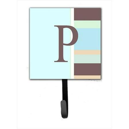 Carolines Treasures CJ1005-PSH4 Letter P Initial Monogram - Pink Stripes Leash Holder Or Key Hook - image 1 of 1