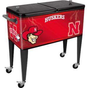 University of Nebraska 80 Qt Patio Cooler