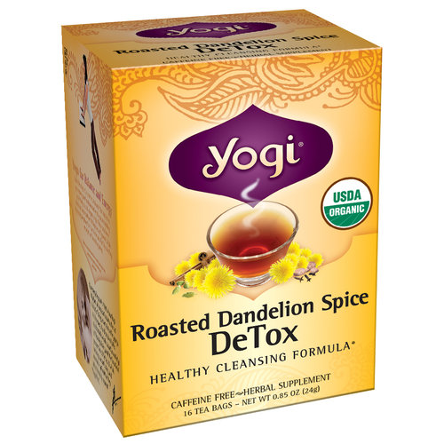 Yogi Roasted Dandelion Spice DeTox Herbal Supplement Tea Bags, 16 count, 0.85 oz