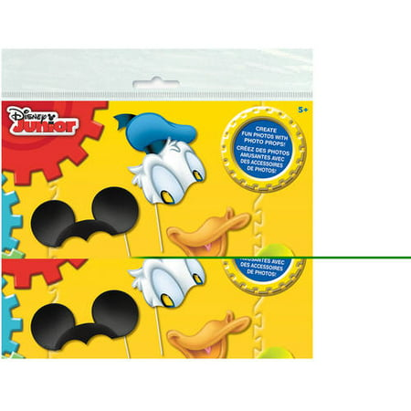 Mickey Mouse Photo Booth Props, 8pc (Mickey Mouse Halloween Party Supplies)