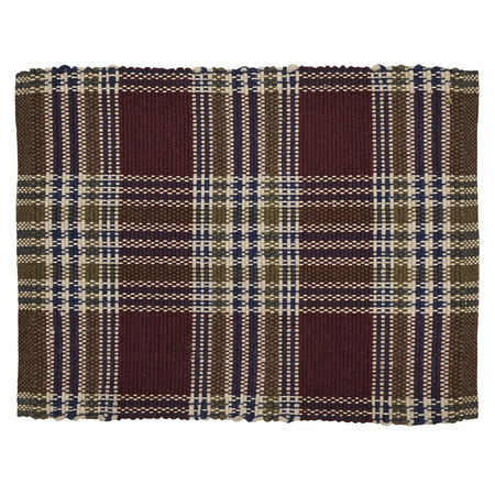 Burgundy Red Rustic & Lodge Flooring Jackson Wool Plaid Rectangle Accent Rug