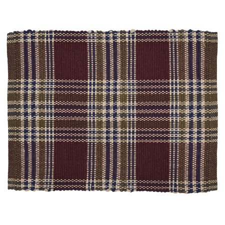 Burgundy Red Rustic & Lodge Flooring Jackson Wool Plaid Rectangle Accent - Tan Glen Plaid Wool