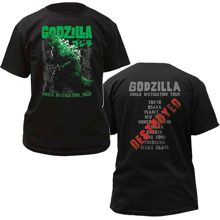 Godzilla World Destruction Tour Adult T-Shirt