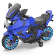HOVERHEART Kids Electric Power Motorcycle 6V Ride On Bike Blue