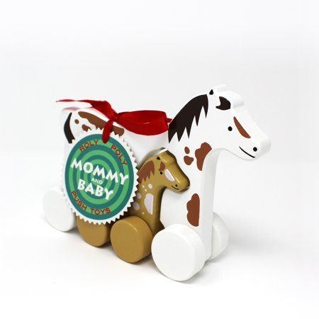Jack Rabbit Creations Horse Mommy & Baby Push Pull Toy