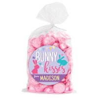Bunny Kisses Personalized Sticker and Treat Bag Set