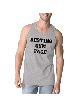 RGF Mens Grey Funny Graphic Fitness Tank Top Lightweight Gym Gifts