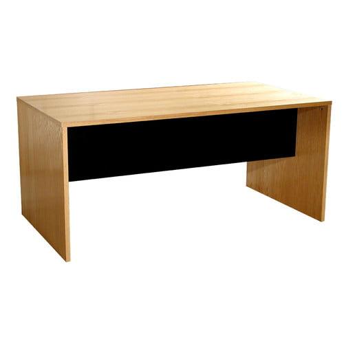 Rush Furniture Modular Real Oak Wood Veneer Furniture Desk Shell in Maple