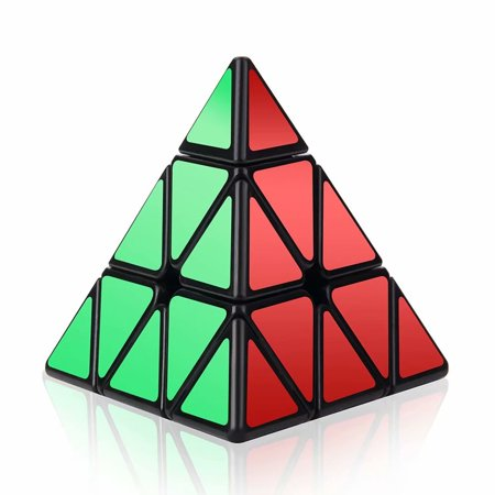 Magic Triangle (Speed Cube, 3x3x3 Pyramid Speed Cube Triangle Puzzle Magic Cube Enhanced Edition - Turns Quicker and More Precisely Than Original )