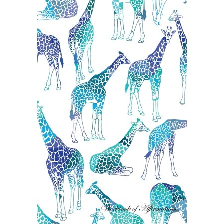 Giraffe Folded Note - Giraffes Workbook of Affirmations Giraffes Workbook of Affirmations : Bullet Journal, Food Diary, Recipe Notebook, Planner, to Do List, Scrapbook, Academic Notepad
